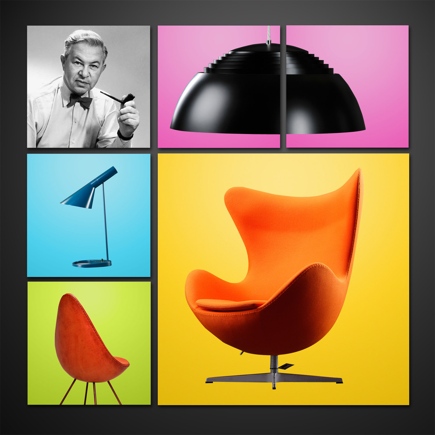 arne jacobsen a design dictator with pipe bowtie and. Black Bedroom Furniture Sets. Home Design Ideas